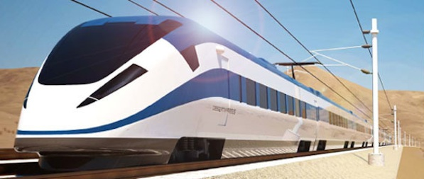 Des trains à grande vitesse qui traversent un désert, il y en a aussi aux Etats-Unis